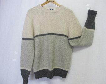 Sierra Designs Sweater 1970's Ski Sweater Boyfriend Sweater Nordic Sweater
