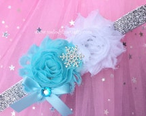 Frozen headband frozen party frozen hair clip frozen hairband Elsa headband hair clip hairband snowflake headband snow queen headband