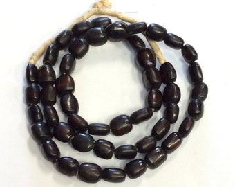 African kenya  dark brown bone beads