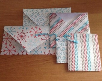 Christmas cards in handmade recycled paper