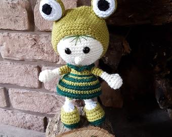 Amigurumi crocheted doll - frog