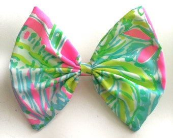 Lilly Pulitzer Coconut Jungle Fabric Hair Bow