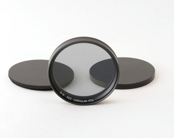 B+W 55mm 55E Circular Polarizer Lens Filter with Hoya 55mm Filter Stacking Caps