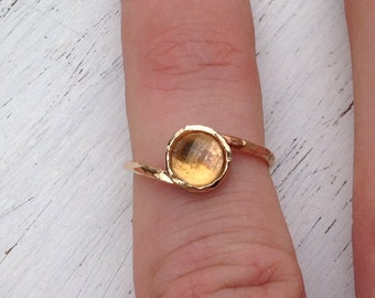 Citrine ring,gold ring,citrine ring gold,dainty ring,gemstone ring,yellow citrine ring,wedding ring,gift for her ,