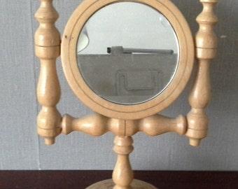 wooden folk mirror