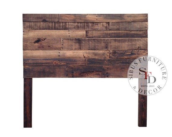 Reclaimed Wood Headboard Queen Pallet Headboard By