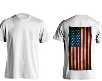 All American Apparal American Flag T-Shirts (Full Back)