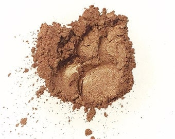 BURNT BRONZE Mineral Eye Shadow - Natural Makeup - Gluten Free Vegan Face Color