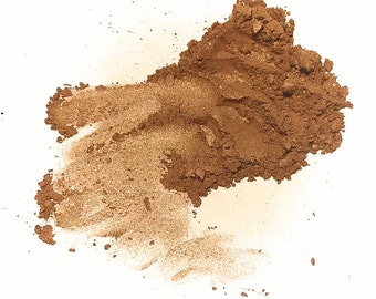 CARAMEL KISS Mineral Eyeshadow - Shimmery Brown Eye Shadow - Gluten Free Mineral Makeup