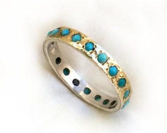 something blue engagement ring gorgeous turquoise engagement ring sterling silver and gold set with - Blue Wedding Ring
