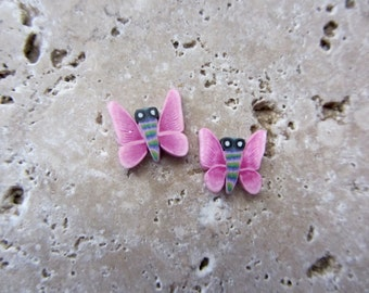 Polymer Clay Butterfly Beads 20 beads