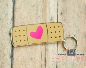 Band-Aid, Nurse, Health care, Doctor Keychain