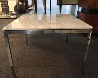 Knoll Chrome and Marble Table