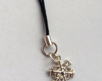 Pewter Snowflake Handbag Charm