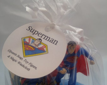 Superman Soap with Toy and Magic Washcloth