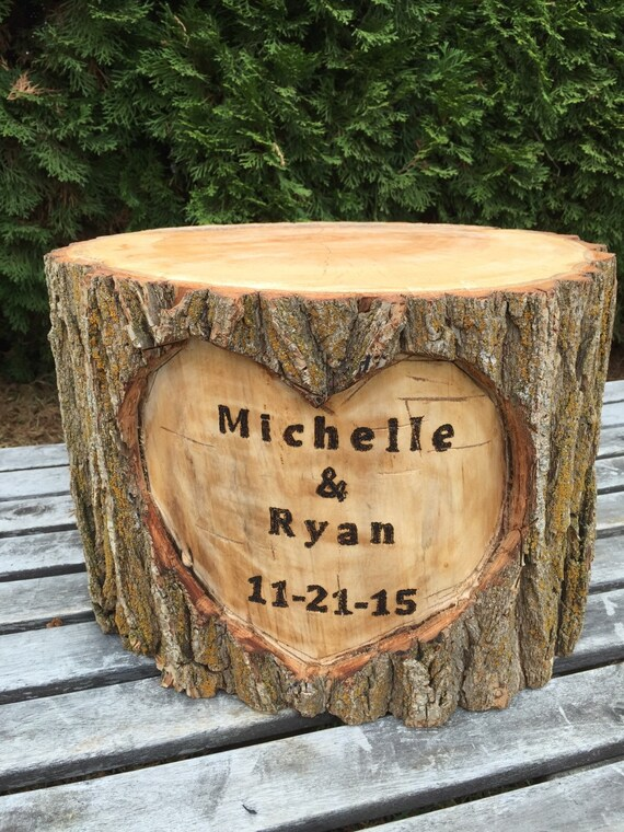 Wooden Tree Stump Cake Stand