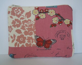 Butterfly coin purse, small make-up bag, zipper pouch