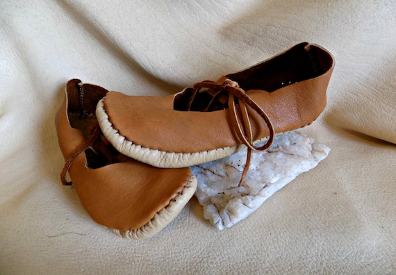 Leather Shoes Handmade Soft Sole Mary Jane Style Sandals