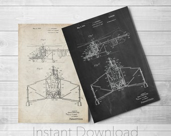 S-47 Helicopter Printables, Aviation Decor, Helicopter Pilot, Aviation Nursery, Helicopter Print, PP0028