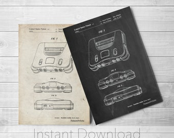 Nintendo Printables, Nintendo Decor, Gamer Gift, Game Room Wall Art, PP0276