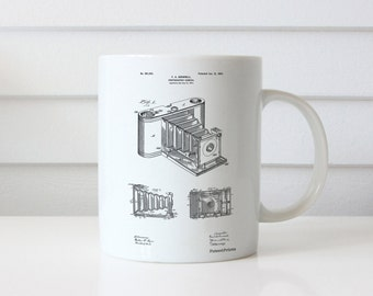 Pocket Folding Camera Patent Mug, Camera Decor, Camera, Photography Mug, Camera Mug PP0015