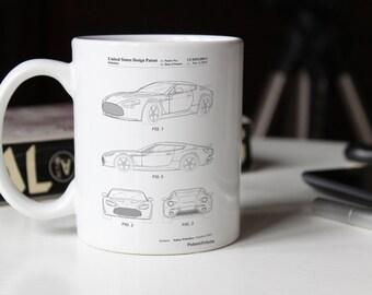 Sports Car Patent Mug, Garage Mug, Boys Room Mug, Car Enthusiast, PP0712