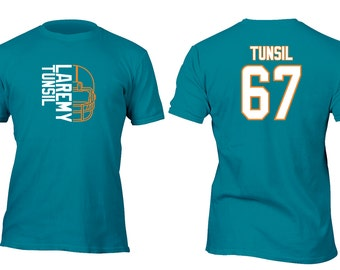 Limited Edition Teal Dolphins Tunsil Opt 4 Football Shirt All sizes up to Plus 5x