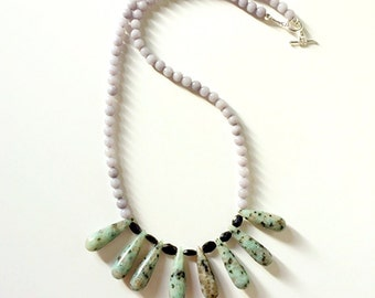 Jasper Teardrop Necklace