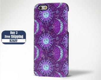 Violet Sun and Moon iPhone 6 Case,iPhone 6 Plus Case,iPhone 5s Case,iPhone 5C Case,4/4s Case,Samsung Galaxy S5/S4/S3/Note 3/Note 2 Case