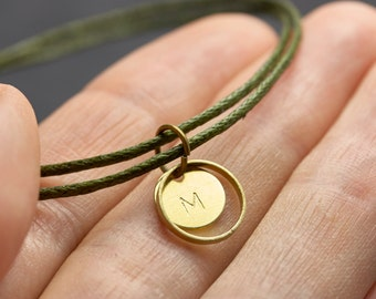 Bracelet engraved minimal vegan Freundschaftsamband