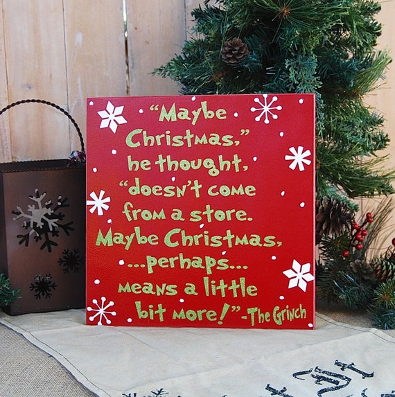 Grinch christmas sign christmas decor grinch by for Christmas decoration quotes