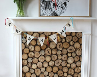 Alphabet Bunting Say What You Want