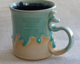 Teal and Navy 8 oz mug