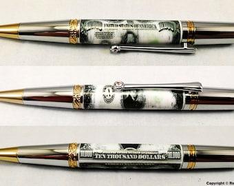 Custom Ballpoint Pen - 10,000 Bill - Executive Pen