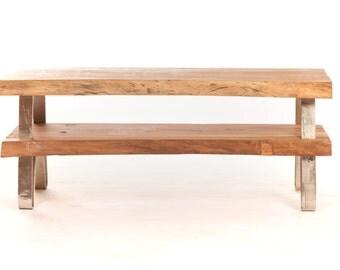TV design bottom wood & metal
