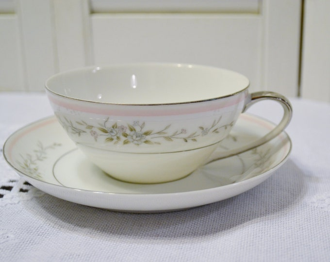Vintage Mikasa Jyoto Orion Cup and Saucer Fine China 8263 Mid Century Japan Bridal Baby Shower Panchosporch