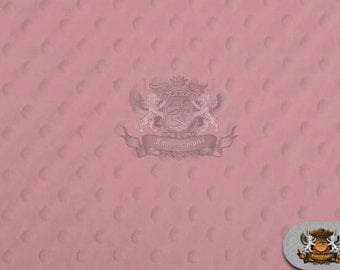 ULTRA Minky Cuddle Dimple Dot DUSTY ROSE Fabric By the Yard