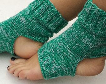 BLACK FRIDAY SALE! Ready to ship! green Yoga Socks Knit Pilates Socks green gray  Socks Dance Socks Women  Socks  Colorful Hipster Socks