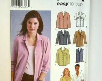 Simplicity 5455 Misses Shirt Sizes 14 - 22 Uncut