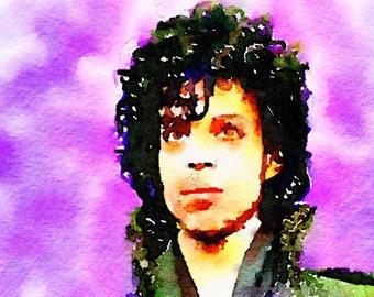 Prince Watercolor Print