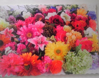"""New Hand Cut Wooden Jigsaw Puzzle """"Amazing Flowers"""" (282 pcs) in Wooden box"""