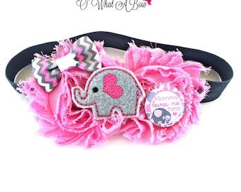 Elephant Baby, Elephant Headband, Elephant Baby Gift, Elephant Hair Bow, Pink Elephant, Pink Elephant Baby,Elephant hair clip