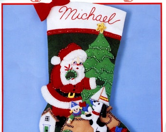 Bucilla Noel 18 Felt Christmas Stocking Kit by FTHInternational