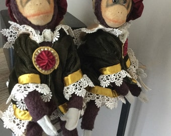 Vintage Pair of Katherine's Collection Monkeys.