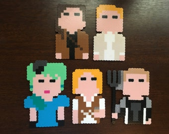 The Hunger Games magnets|homemade|choose1|hunger games ornament|hunger games cake topper|hunger games party favor|katniss everdeen|peeta