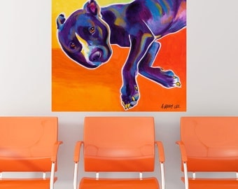 Izzy Pit Bull Puppy Dog Wall Decal - #59949
