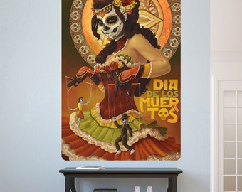 Dia de los Muertos Day of the Dead Wall Decal - #60932