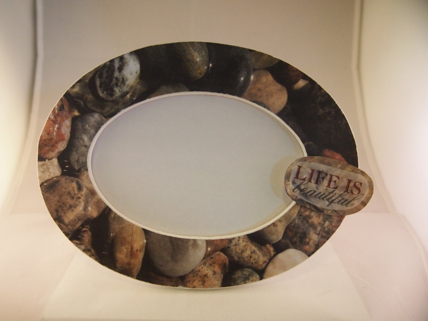 Stone Frame Life Is Beautiful Natural Decor Home Decor