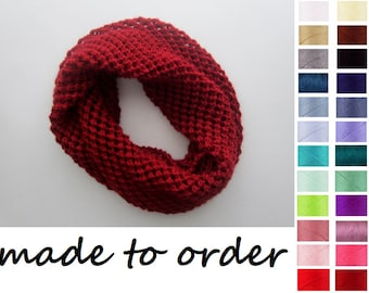 Knitted Lace Scarf, Infinity Scarf Knit, Vegan Friendly, Girlfriend Gift, Scarves for Women, Knitted Accessories, Acrylic Scarves, Handknits