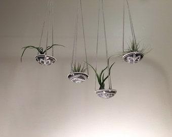 air plant hanging planter / air plant holder / tribal design